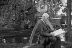 Martin Moska in his garden