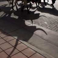 Longhorns march on 15th Street