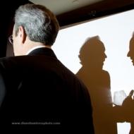 Gerry Glick and Bill Mosher in spirited conversation