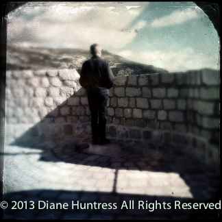 Man on Dubrovnik wall in tintype