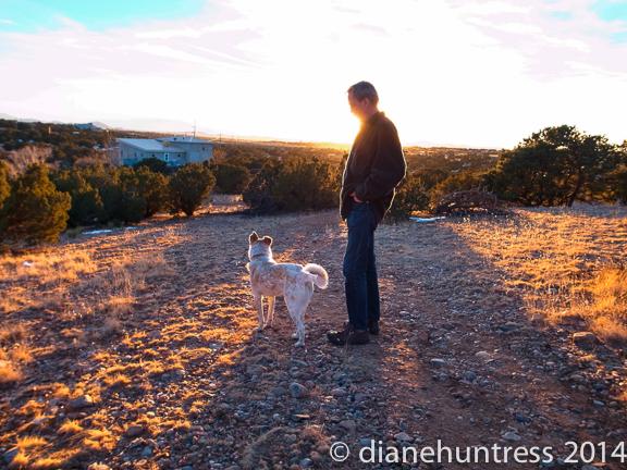 sunset Santa Fe desert
