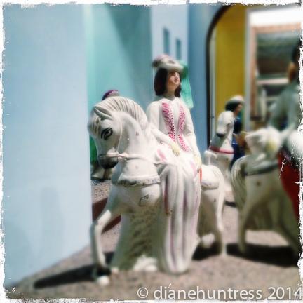 porcelain, horse, female rider