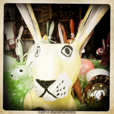 cute, wooden, carved, bunny,