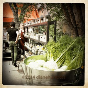 Grower's Organic produce and Savory Spices in Larimer Square.