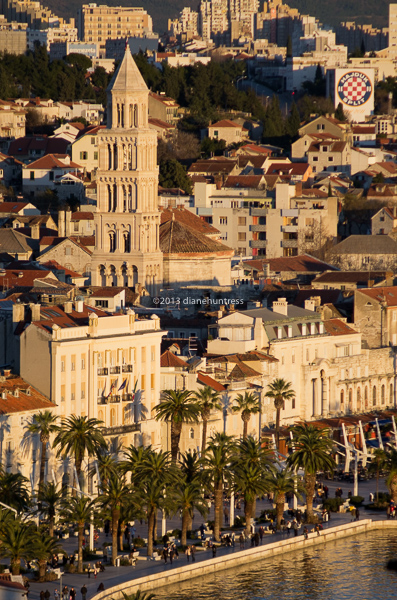 Sunset, Split, historic