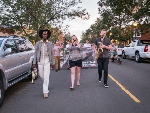 musicians, parade, memorial