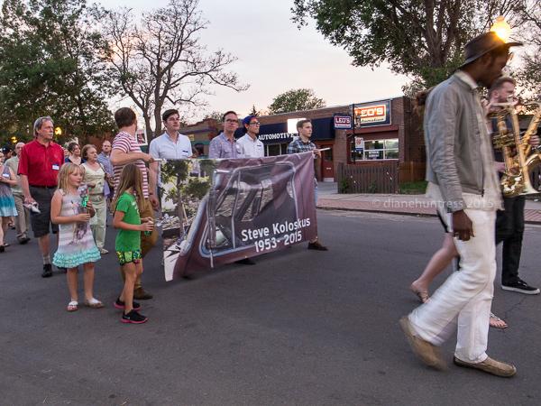 memorial parade, banner, guys