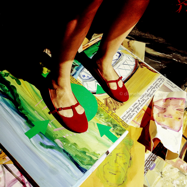 red shoes artist