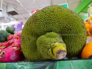 green tropical fruit