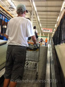 man shopping cart